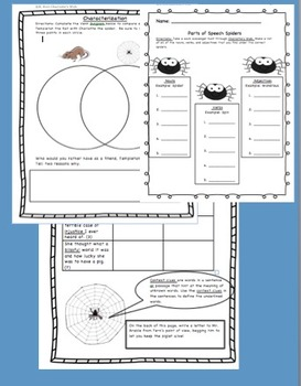 Charlotte's Web Novel Study, Games, and Activities