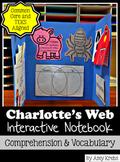 Charlotte's Web Novel Study: Interactive Lap Book and Vocabulary Bundle