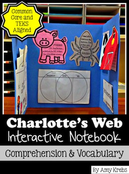 Charlotte's Web Novel Study: Interactive Lap Book and Voca