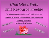 Charlotte's Web Novel Study Resources Graphic Organizers Common Core