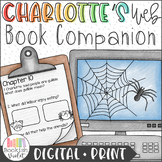 Digital + Print Charlotte's Web Novel Study Bundle