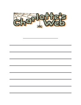 """Charlotte's Web """"PAPER"""" and Response to Literature"""
