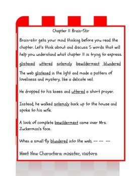 Charlotte's Web Part II (Chapters 11-22)
