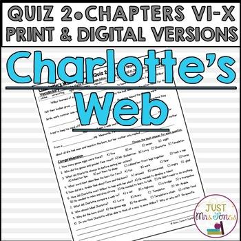 Charlotte's Web Quiz 2 (Ch. VI-X)