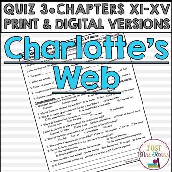 Charlotte's Web Quiz 3 (Ch. XI-XV)