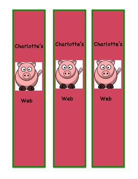 Charlotte's Web Review Game: I Have...Who Has and Charlotte's Web bookmark