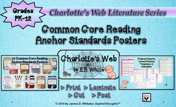 Charlotte's Web Themed Common Core Reading Anchor Standard