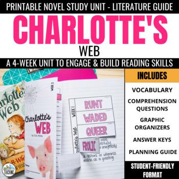 Charlotte's Web Trifold Novel Study Unit