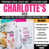 Charlotte's Web Trifold Novel Study Unit