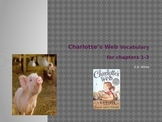 Charlotte's Web Vocabulary Chapters 1-3 *With context sentences