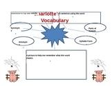 Charlotte's Web Vocabulary Graphic Organizer