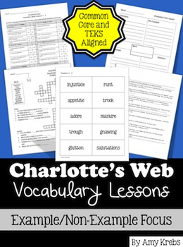 Charlotte's Web Vocabulary Lessons and Activities