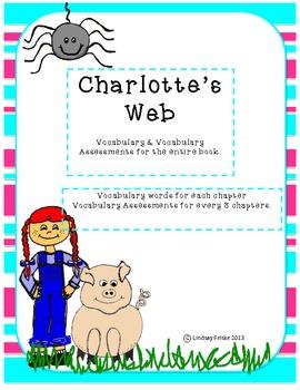 Charlotte's Web Vocabulary & Vocabulary Assessments