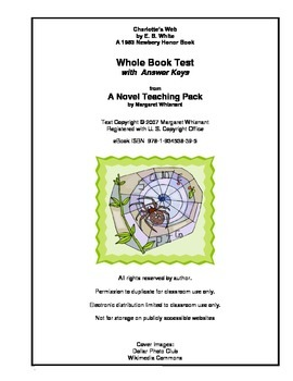 Charlotte S Web Whole Book Test By Margaret Whisnant Tpt