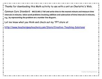 Charlotte's Web- Wilbur's Elapsed Time