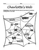 Charlotte's Web Worksheet: Short /a/ and Short /i/