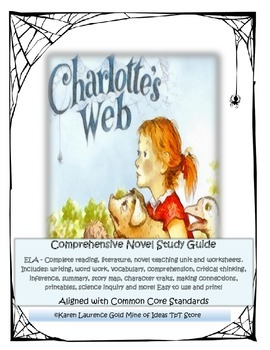 Charlotte's Web - a comprehensive unit - aligned with ELA Common Core