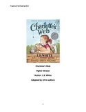 Charlottes Web adapted book summary review questions vocabulary PDF format