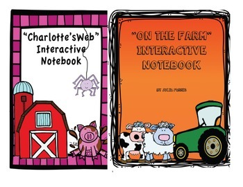 """""""Charlotte's Web"""" and """"On the Farm"""" Interactive Notebook Bundle"""