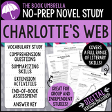 Charlotte's Web Novel Study - Distance Learning - Google Classroom