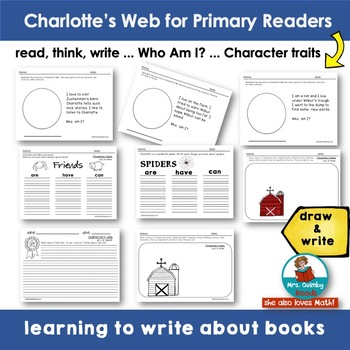 Charlotte's Web for Primary Readers - [Children's Literature] Writing Prompts