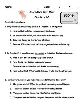 Charlotte's Web quiz pack