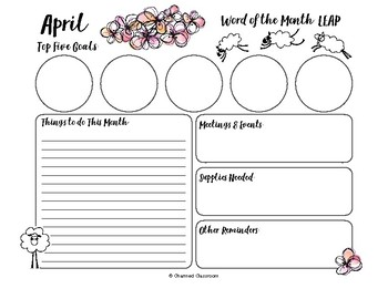 Charmed Month Planner