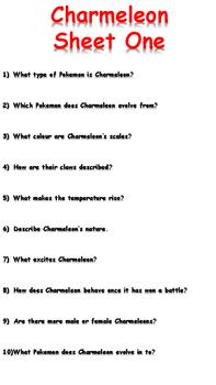 Charmeleon Reading Comprehension