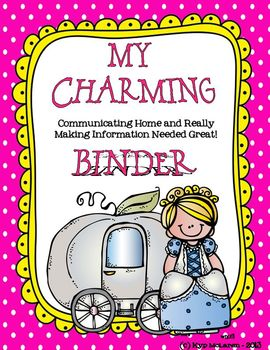 """Charming"" Organizational Binder with a Cinderella twist"