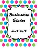 Charolette Danielson Evaluation Binder