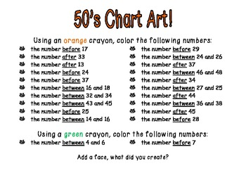 Chart Art - Number Sense Practice