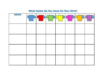 Chart : What Colors Are On Your Shirt?