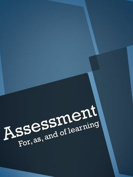 Chart for Understanding Assessment For, As, and Of Learning