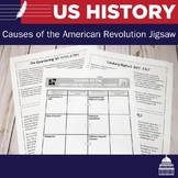 Causes of the American Revolution Jigsaw Lesson | US History