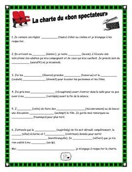Charte du bon spectateur (sortie cinéma) (règles)