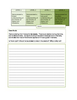 Charter of Rights and Freedoms Case Study Assessment