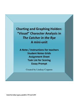 Charting and Graphing Holden in The Catcher in the Rye Mini Unit