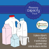Measuring Capacity: Charts, Worksheets, and Clipart