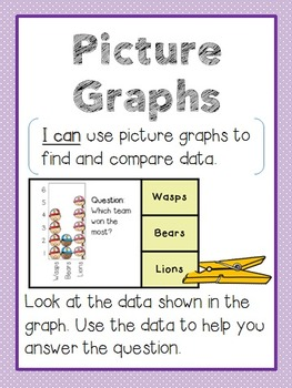 Charts and Graphs Clothespin Math Centers (3 Centers)