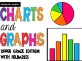 Charts and Graphs: Upper Grades w/foldables for a math journal