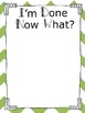 Charts and Parts: I'm Done, Now What? Anchor Chart