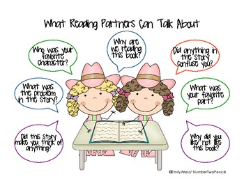 Charts and Parts: What Reading Partners Can Talk About {girls}