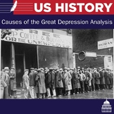 Causes of the Great Depression Activity