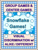 """Chase a Snowflake!"" -- Visual Discrimination Group Games and Center Games"