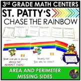 Saint Patrick's Day Math Game - Area Perimeter Missing Sides