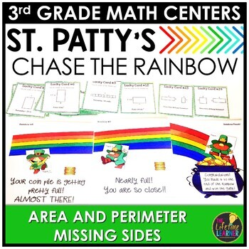 Chase the Rainbow Area Perimeter Missing Sides March Month
