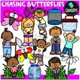 Chasing Butterflies Clip Art Bundle {Educlips Clipart}