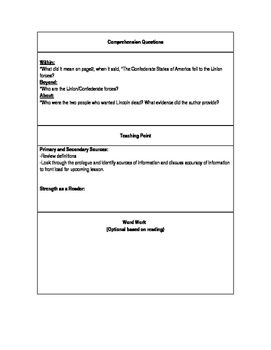 Chasing Lincoln's Killer Small Group Lesson Plans
