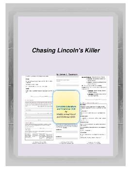 Chasing Lincoln's Killer Complete Literature and Grammar Unit