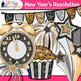 New Year's Resolution Clip Art, Scrapbook Paper, Frames {Countdown Celebration}